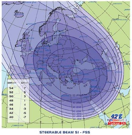 Eurasiasat 1, 42E, луч S1